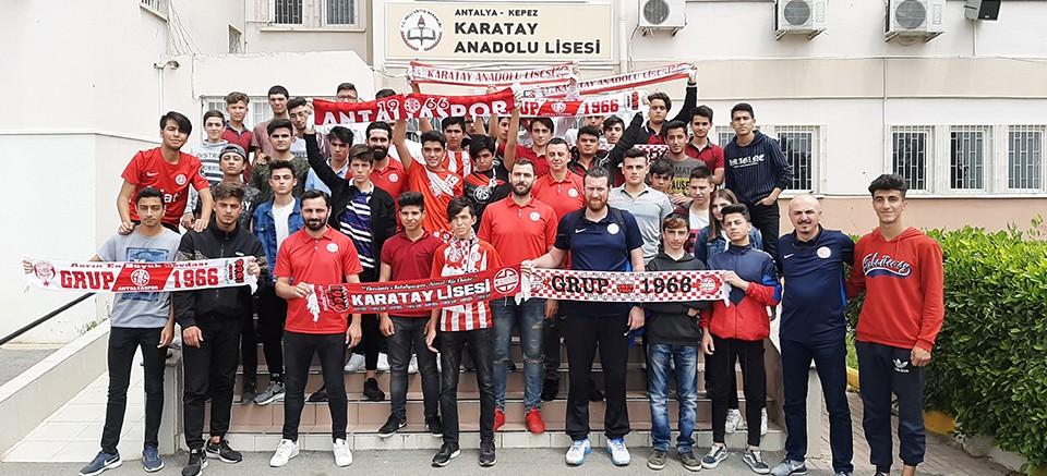 Antalyaspor, Karatay Lisesi ile bir arada