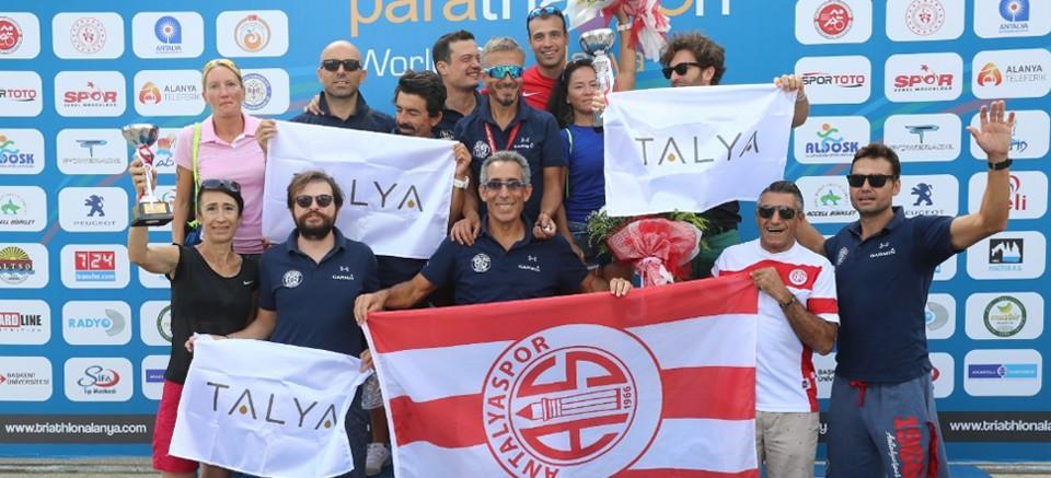 Antalyaspor triatlon takımı, sezonu 2'nci tamamladı