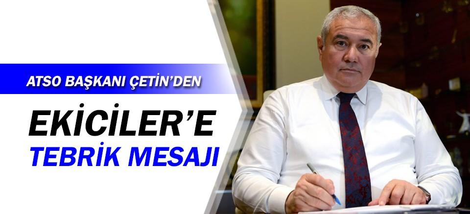 ATSO Başkanı Çetin'den Ekiciler Süt'e tebrik...