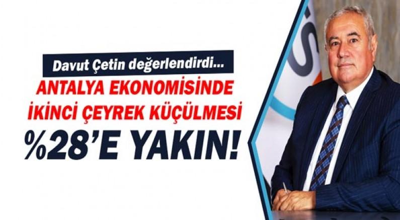 ATSO Başkanı Çetin: En büyük daralma hizmetler sektöründe!