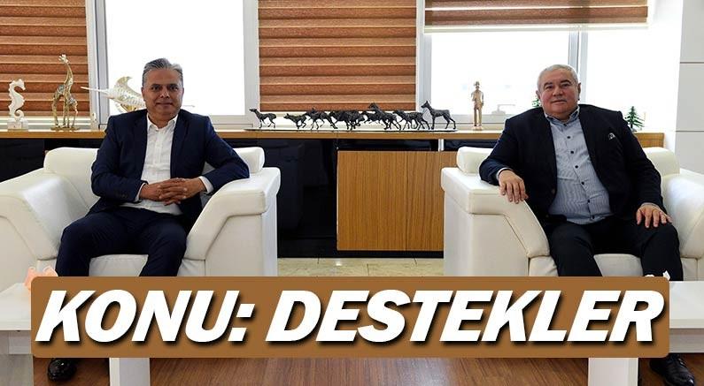 ATSO Başkanı Çetin ve Belediye Başkanı Ümit Uysal bir araya geldi, konu destekler...