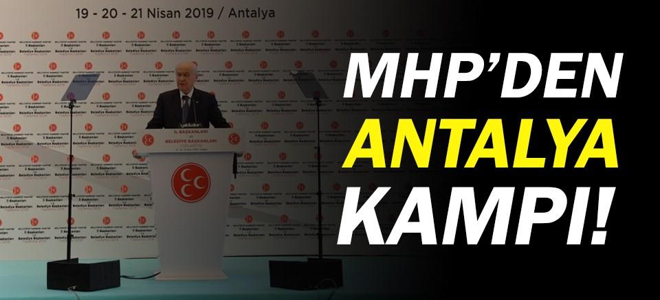 Bahçeli, Antalya'da başkanlarla bir arada!