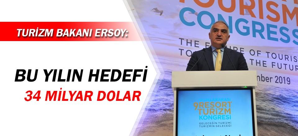 Bakan Ersoy, turizm hedefini açıkladı!