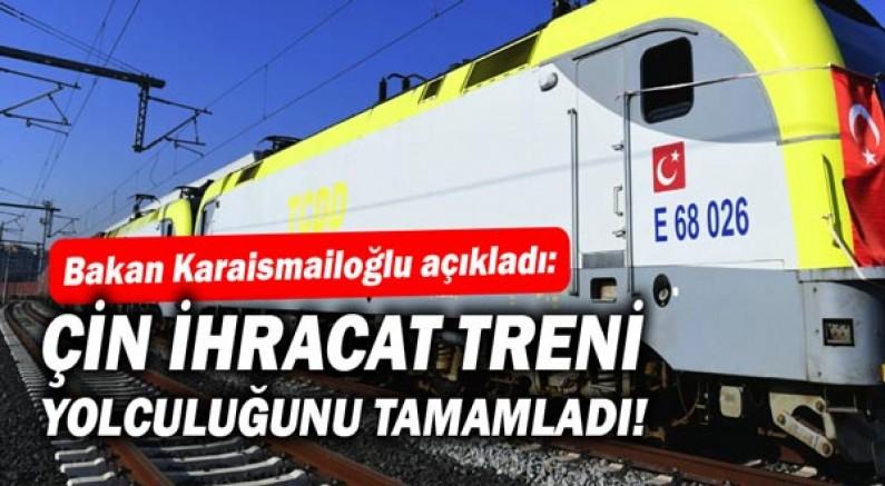 Bakan Karaismailoğlu açıkladı: Çin İhracat Treni, Çerkezköy'den Çin'in Xi'an şehrine kesintisiz yolculuğunu tamamladı