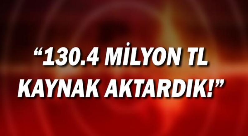 Bakan Yanık: 130.4 milyon TL kaynak aktardık!