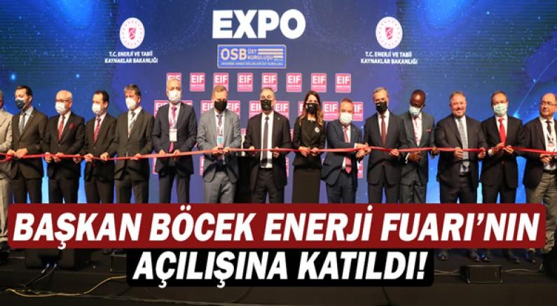 Başkan Muhittin Böcek Enerji Fuarı'nın açılışına katıldı!