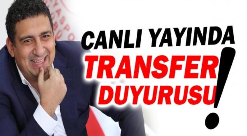 Başkan Öztürk canlı yayında yeni transferi duyurdu!