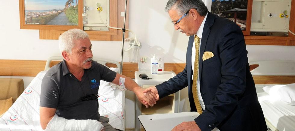 Başkan Topaloğlu'ndan, hastalara geçmiş olsun ziyareti