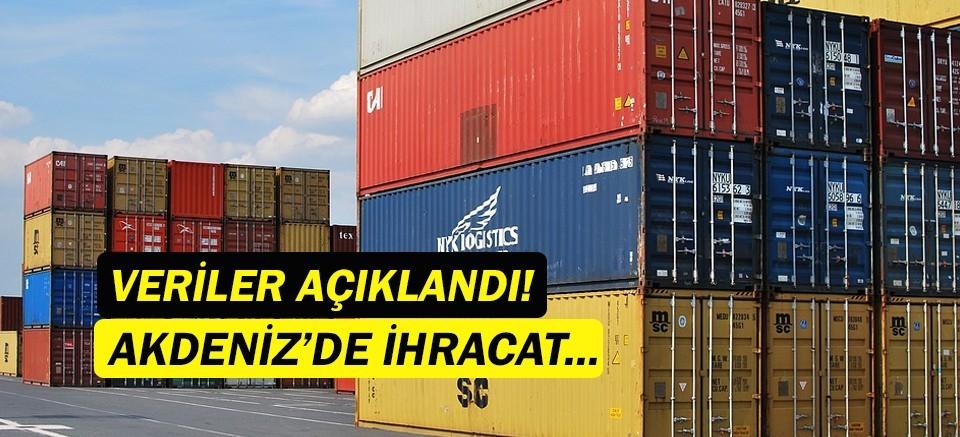 Batı Akdeniz ihracat rakamları açıklandı!