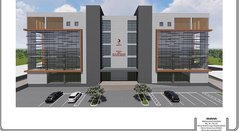 Bölge kan merkezi'nin projesi hazır