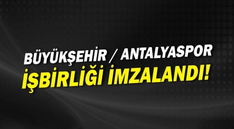 Büyükşehir Belediyesi, Antalyaspor Kulübü Derneği ile işbirliği protokolü imzalıyor.