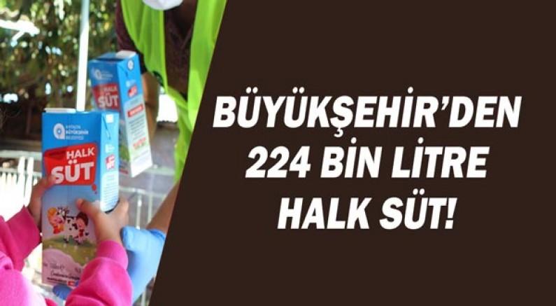 Büyükşehir çocuklara 224 bin litre Halk Süt dağıttı