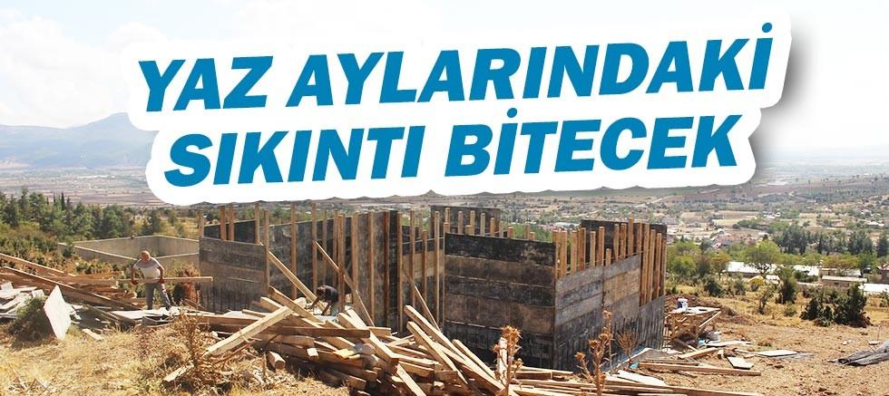 Büyükşehir'den Korkuteli'ne üç yeni su deposu