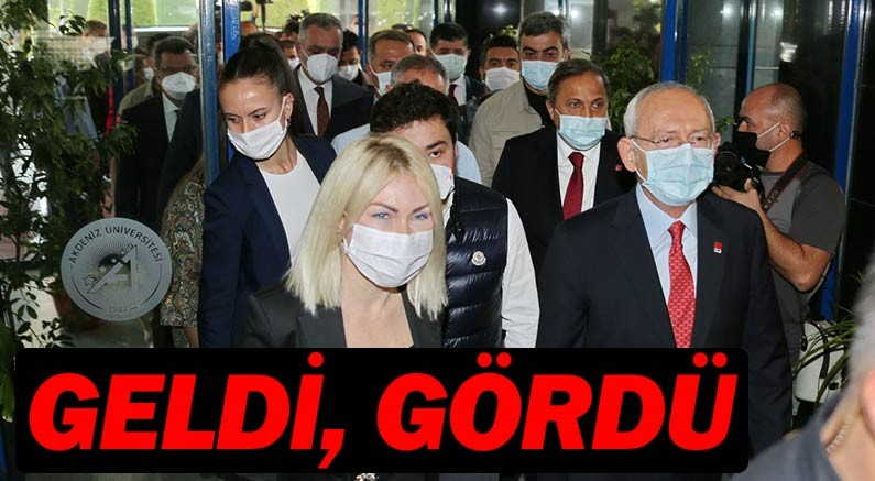 CHP Genel Başkanı Kılıçdaroğlu Muhittin Böcek'i gördü.