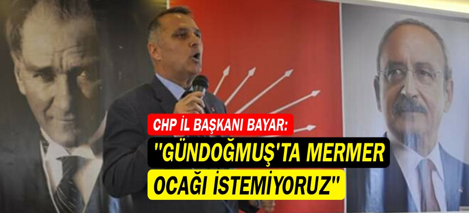 CHP İl Başkanı Bayar