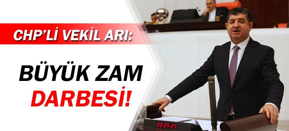 CHP'li Vekil Arı'dan yetki belgelerine yapılan zamma tepki!