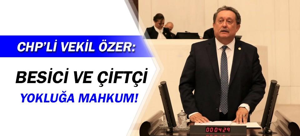CHP'li Vekil Özer:  yokluğa mahkum!