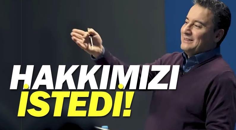 DEVA Partisi Genel Başkanı Ali Babacan, gazetecilere sahip çıktı.