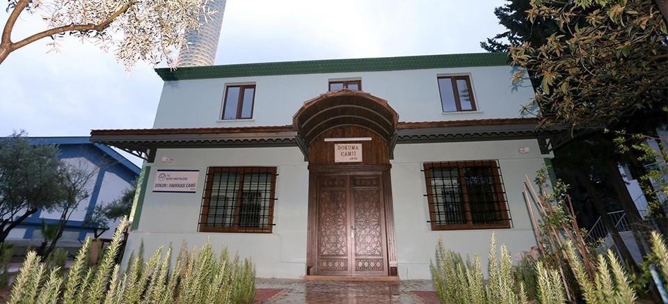 Dokuma Fabrikası Camii yeniden ibadete açıldı