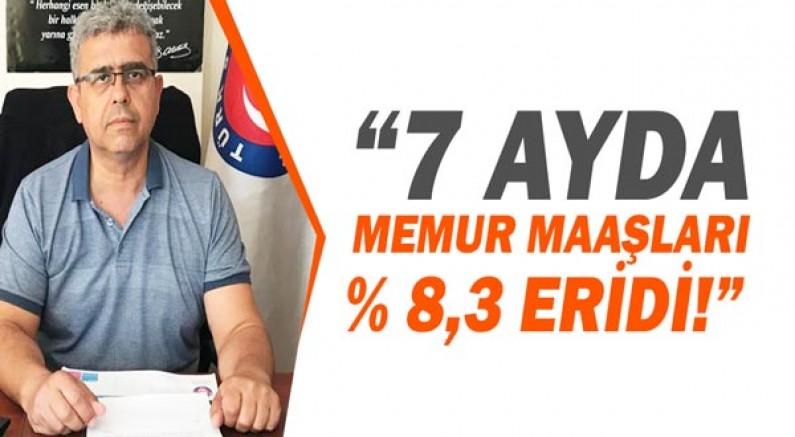 Dr. Ali İhsan Yılmaz: 7 ayda memur maaşları %8,3 eridi!