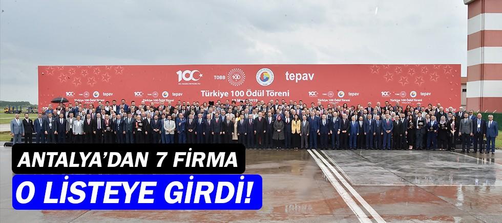 En hızlı büyüyen şirketler listesinde Antalya'dan 7 firma!