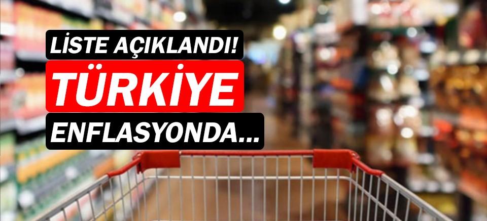 Enflasyon oranı en yüksek ülkeler açıklandı! Listede Türkiye...