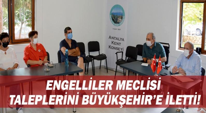 Engelliler Meclisi taleplerini Büyükşehir'e iletti!