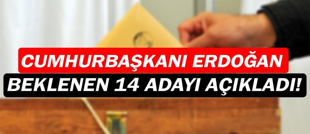 Erdoğan, Ak Parti'nin 14 adayını açıkladı!