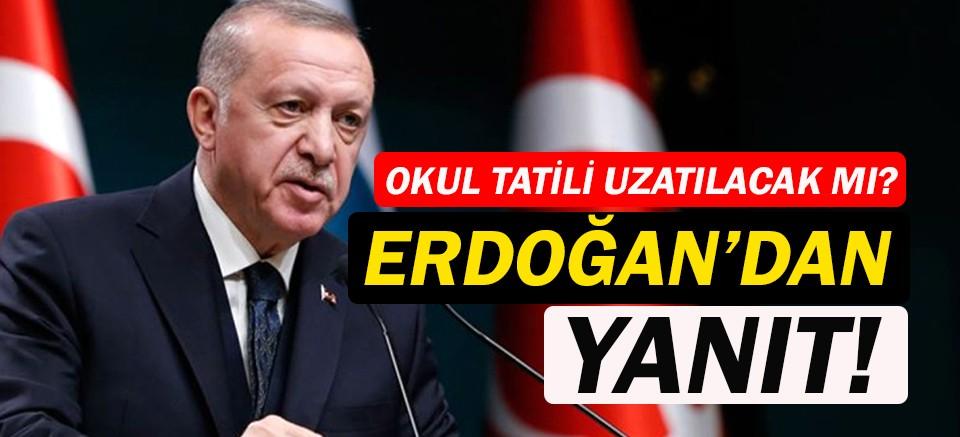 Erdoğan:Bu konuda Bilim Kurulu'nun tavsiyelerini dikkate alacağız!