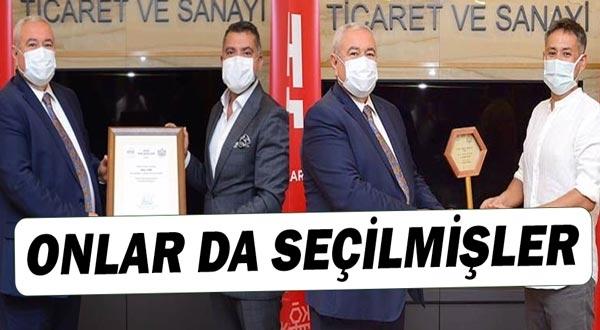 Erol Türk ve VAli Mert Alta Kente Önem Katanlar ödülüne layık görüldü.