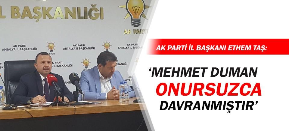 Ethem Taş, AK Parti'den CHP'ye geçen Mehmet Duman'a ateş püskürdü!