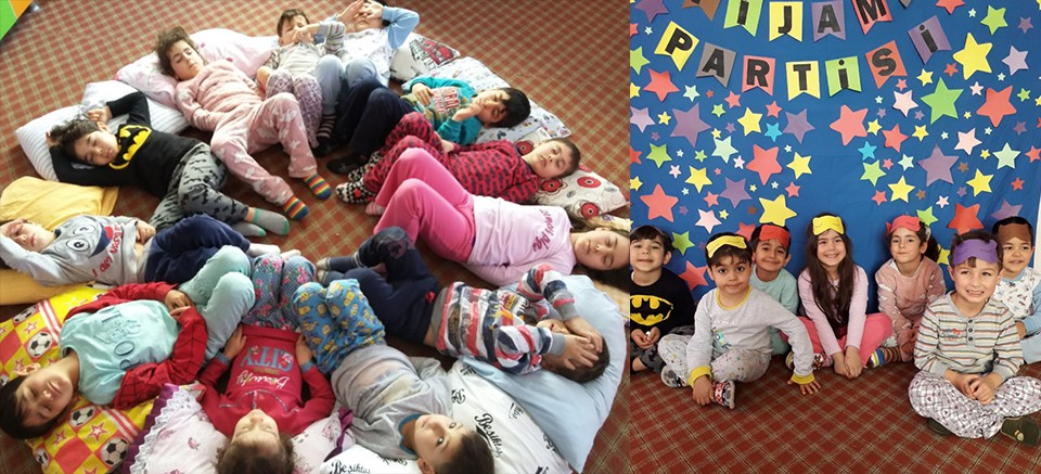 Eymen Kreş, ilkbaharı pijama partisiyle karşıladı!
