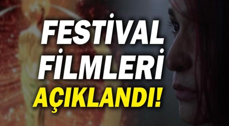 Festival filmleri açıklandı!