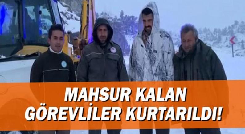 Giden Gelmez Dağları'nda mahsur kalan görevliler kurtarıldı!