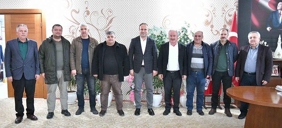 Halil Şahin'den ulaşım esnafına destek