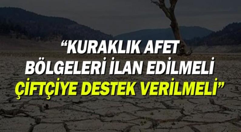 """Hasan Subaşı, kuraklığı TBMM'ye taşıdı: """"Hükümet tarımı yönetemiyor"""""""