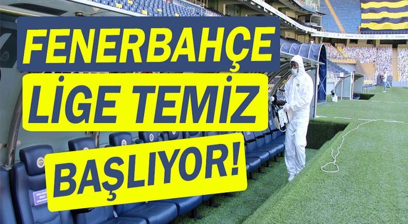 İBB, Fenerbahçe Şükrü Saraçoğlu stadını dezenfekte etti.