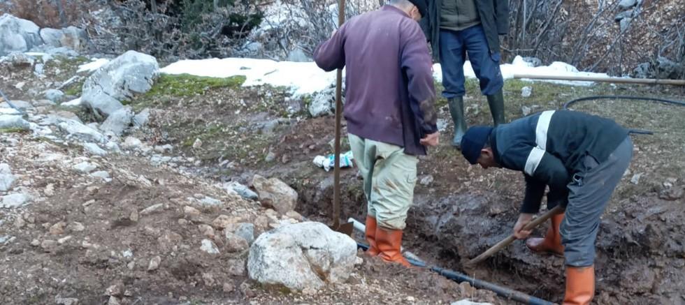İbradı'da Maşat Su Kaynağı'na bakım