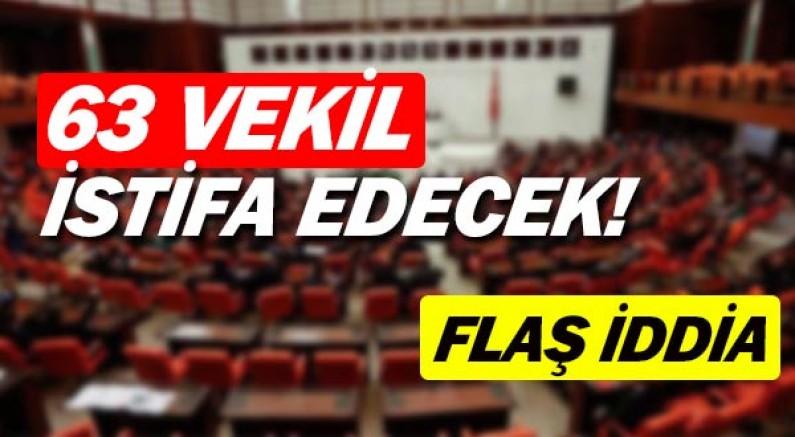 İlginç iddia... AK Parti'den 63 milletvekili istifa edecek.