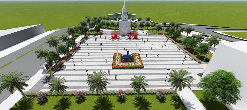 Kemer Cumhuriyet Meydanı yenileniyor