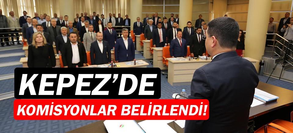 Kepez Belediye Meclisi'nde komisyonlar belirlendi