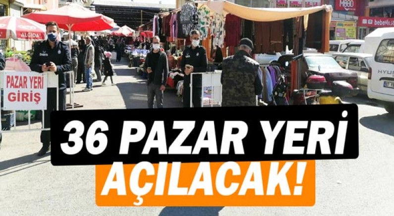 Kepez'de 36 pazar yeri açılacak