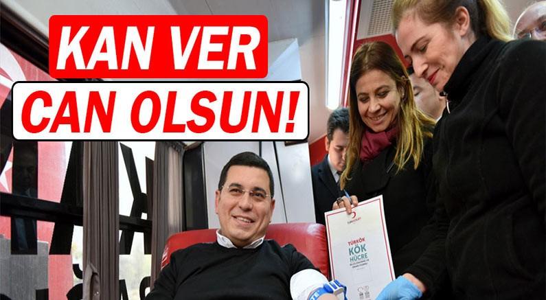 Kepez'den 'Kan ver can olsun' kampanyasına destek.