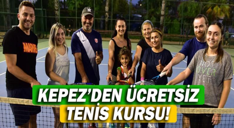 Kepez'den ücretsiz tenis kursu!