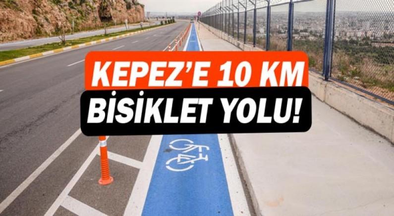 Kepez'e 10 km bisiklet yolu