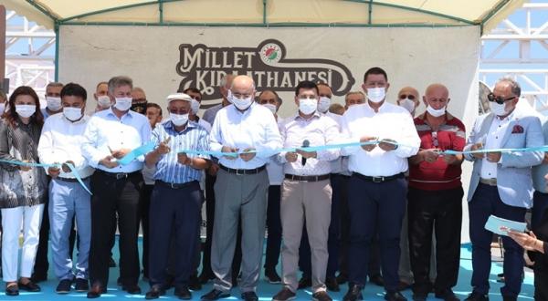 Kepez'in Millet Kıraathanesi açıldı.