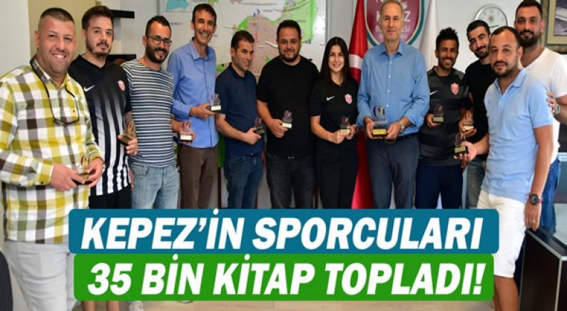 Kepez'in sporcuları 35 bin kitap topladı!