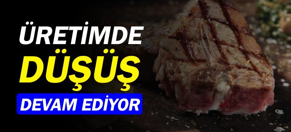 Kırmızı et üretiminde azalma devam ediyor!