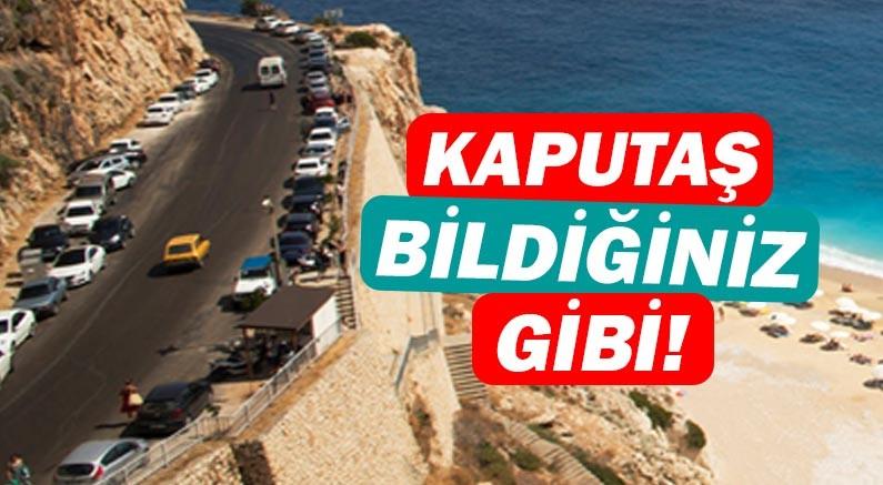Kısıtlama sonrası yeniden açılan Kaputaş Plajı'nda yoğunluk yaşandı!