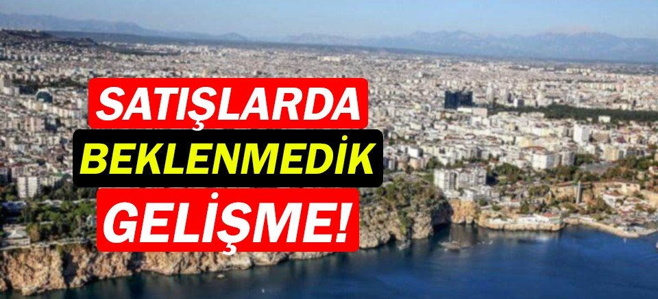 Konut satış verileri açıklandı! Antalya'da Eylül ayında...